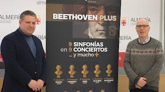 Presentación de 'Beethoven Plus', ayer en la Sala de Prensa de la Plaza Vieja.