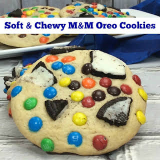 Soft & Chewy M&M Oreo Cookies.