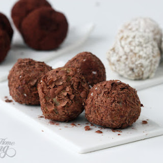 White Chocolate and Dried Fruit Truffles