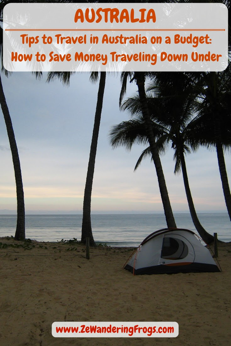 Travel in Australia on a Budget: How to Save Money While Traveling Down Under // Camping along the coast north of Cairns