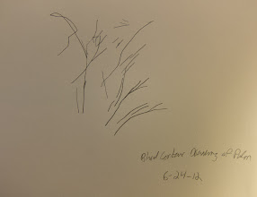 Photo: Pure Contour Drawing of Right Palm