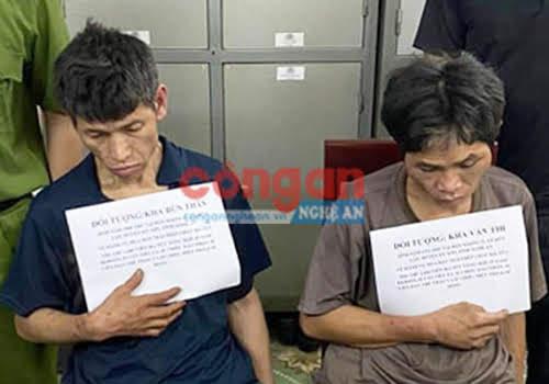 2 đối tượng Kha Bún Thăn và Kha Văn Thi bị bắt giữ