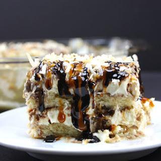 No Bake Samoa Cake