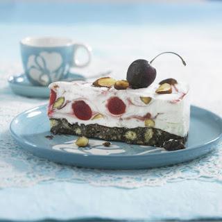 Semifreddo Cherry Almond Cheesecake.