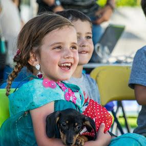 Fun by Pilar Gonzalez - Babies & Children Children Candids ( laughing, happiness, puppy, fun, birthday party, beautiful girl,  )