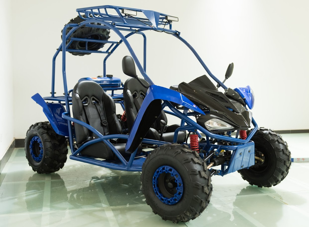 8.4Hp Kinroad Deluxe Kids Dune Buggy 125cc Sahara Pro Go Cart with Rollcage
