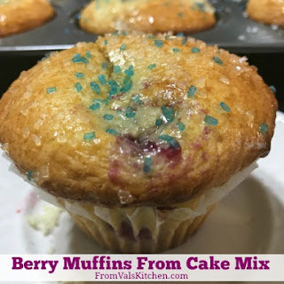 Berry Muffins From Cake Mix.