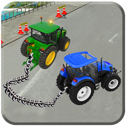 Real chained tractors 3d driver