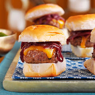 Cheddar & Onion Beef Sliders.