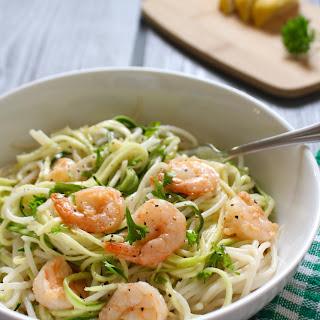 Coconut Garlic Shrimp Pasta.