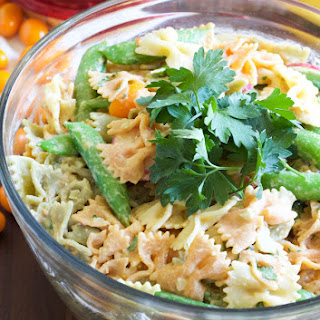 Hummus Dressing Pasta Salad