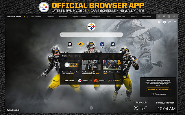 Pittsburgh Steelers Official Browser App