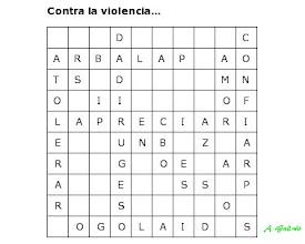 Photo: Solución Sopa de letras contra la violencia