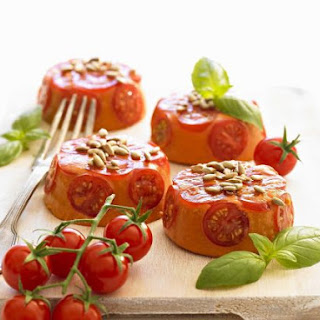 Tomato and Basil Mousses
