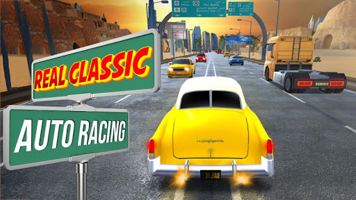 VR Car Race -Real Classic Auto Traffic Race apkpoly screenshots 6