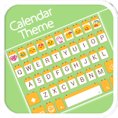 Calendar Emoji Keyboard Theme
