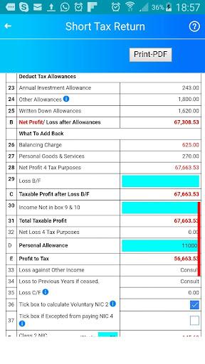 لالروبوت Tax Return without Bookkeeping تطبيقات screenshot