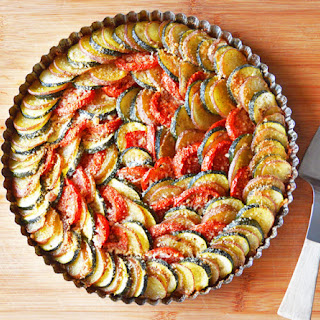 Vegan Zucchini, Potato and Tomato Casserole