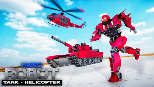 Helicopter Transform War Robot Hero: Tank Shooting 1.1 screenshots 1