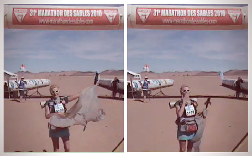 "Véronique ""Finisheuse"" du marathon des sables 2016"