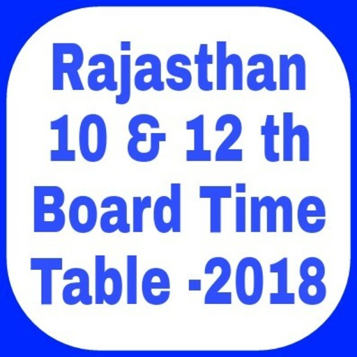 RBSE  10 & 12 Board Exam Time Table 20  file APK Free for PC, smart TV Download
