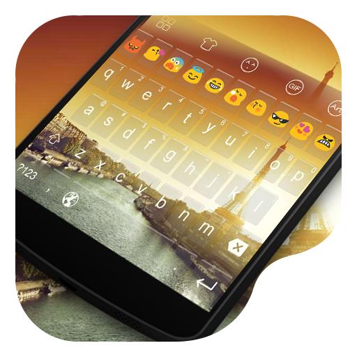 Paris Sunset -Emoji Keyboard 工具 App LOGO-硬是要APP