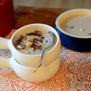 Creamy Mushroom Turkey Orzo Soup