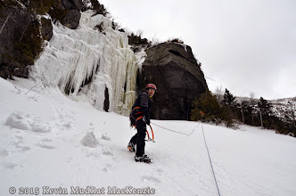 Photo: Approaching the belay.