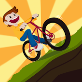 2D Hill Bicycle Climb Racing
