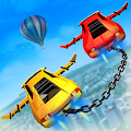 Impossible Flying Chained Car Games