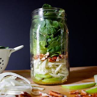 Apple, Fennel, and Arugula Salad in a Mason Jar