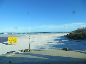 Photo: Traffic Hazard Ahead - Yap, the ocean!