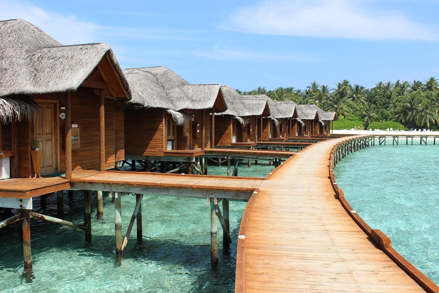 Домики на воде на острове Фихалхохи