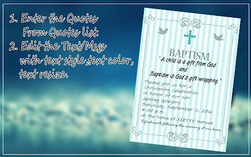 Baptism Invitation Maker Apps on Google Play
