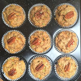 Vegan Zucchini, Carrot & Pecan Muffins.
