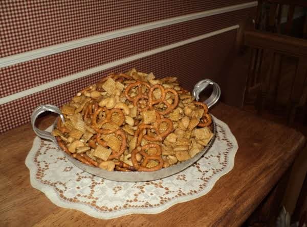 This Is My Finished Product With Making Stephanie's Special Treat.  This Is Some Of The Best Chex Mix I Have Ever Tasted!! Try It, You Will Love It!