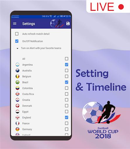 Score & Schedule : World Cup 2018 1.5 screenshots 3