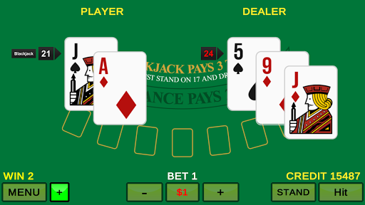 Video Blackjack 21 1.0.1 Mod screenshots 1