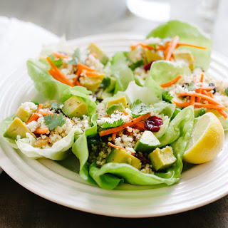 Quinoa Salad Lettuce Cups.
