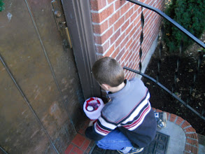 Photo: Gently setting them on the porch. Unfortunately no one was there when we stopped by. Wanted to get the delivered before Christmas so we set them on the porch.