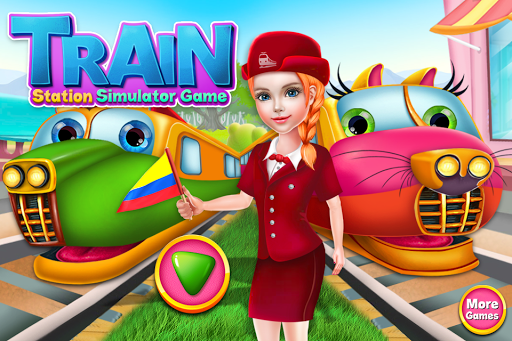 Télécharger gratuit Train Station Simulator Game - Fun Games for Kids APK MOD 1