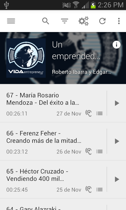 VIDA Entrepreneur Podcast: captura de pantalla