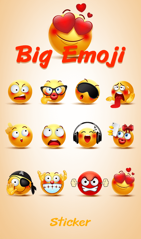 TouchPal Big Emoji Sticker- screenshot