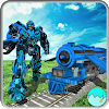 Futuriste euro Train Transformation Robot War 3D