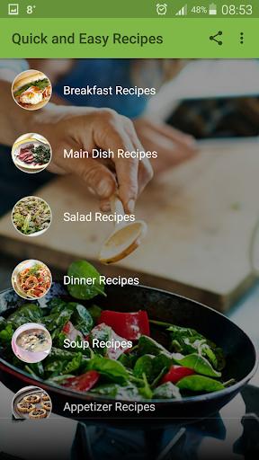 Quick and Easy Recipes 2.7 screenshots 1