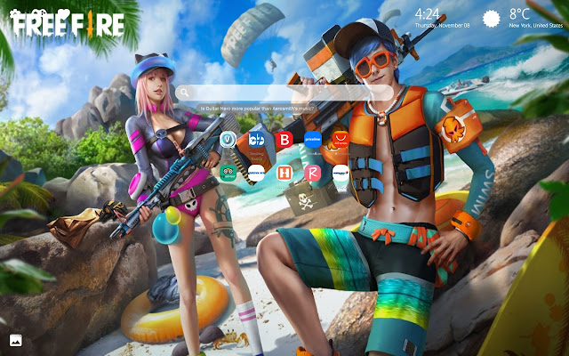 Garena Free Fire Wallpapers New Tab