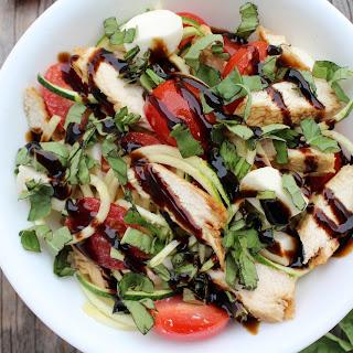 Chicken Caprese Zoodle Bowl Recipe