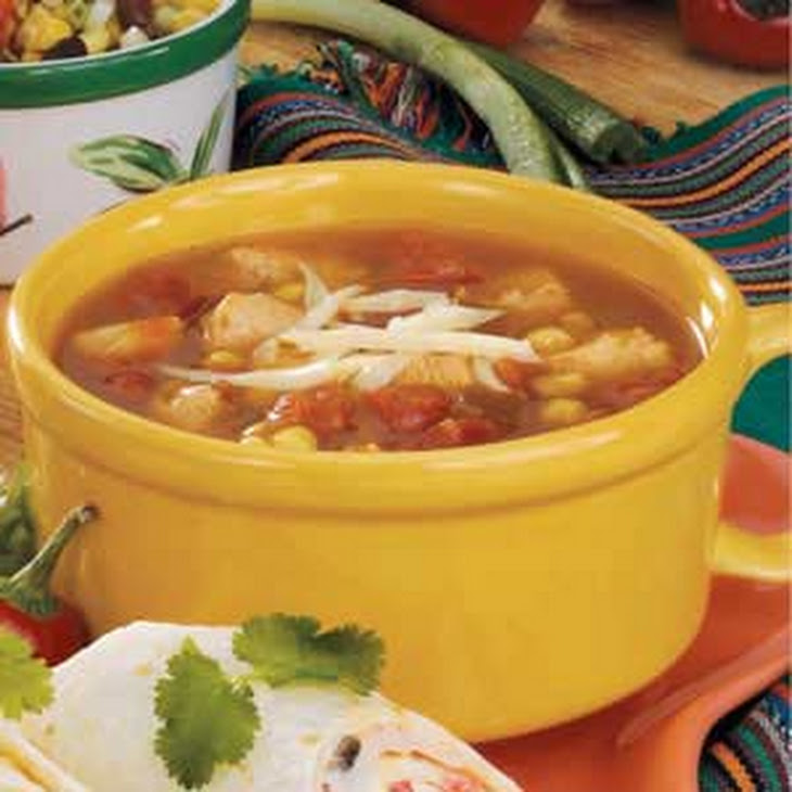 Chicken And Corn Soup With Chile-Mint Salsa Recipes — Dishmaps