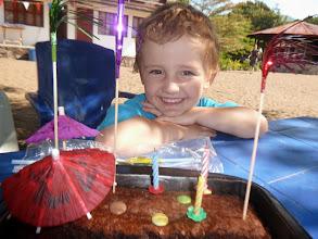 Photo: Verjaardag van Joel tijdens de vakantie. Ik ben 3 jaar!
