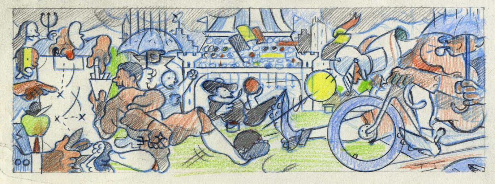 Belgium World Cup Doodle Sketch